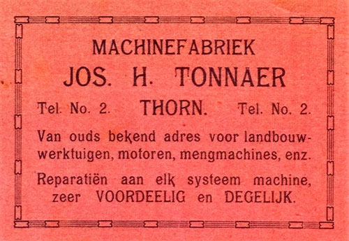 History Machine factory Jos Tonnaer Tonnaer Mixing Systems