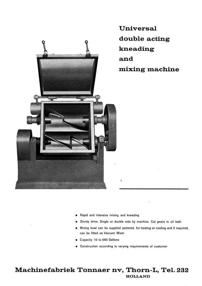 History Universal Double Acting Kneading And Mixing Machine Mixing Systems