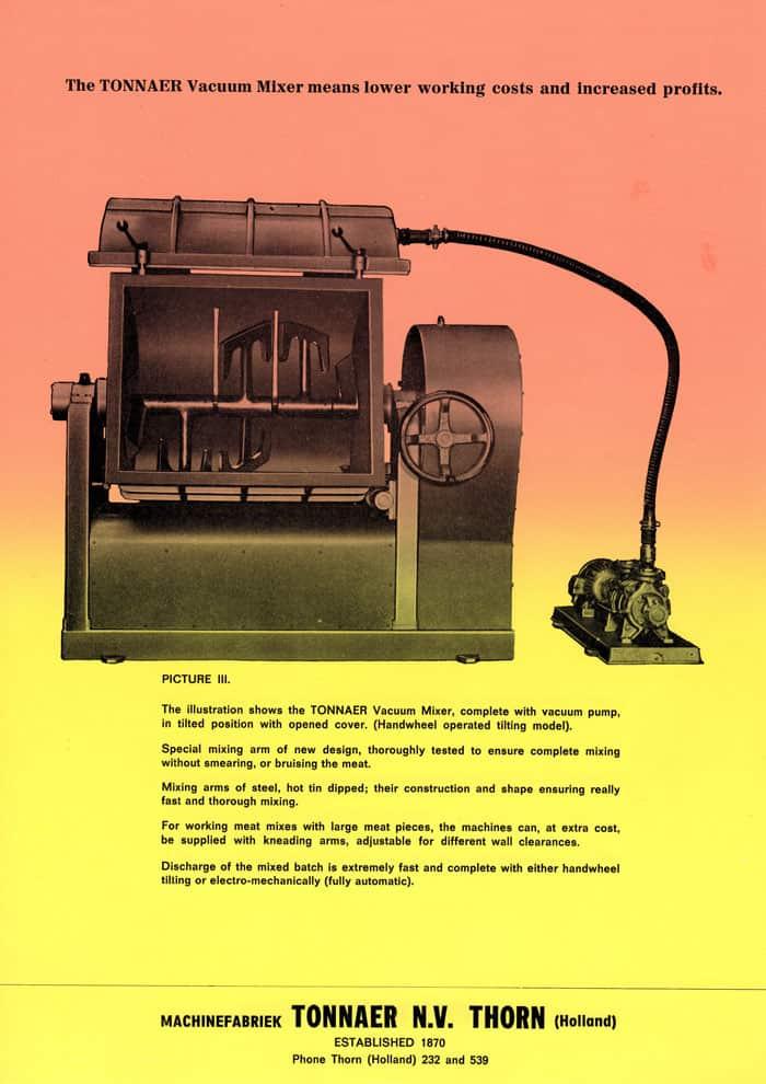 History Vacuum Mixer Tonnaer Mixing Systems