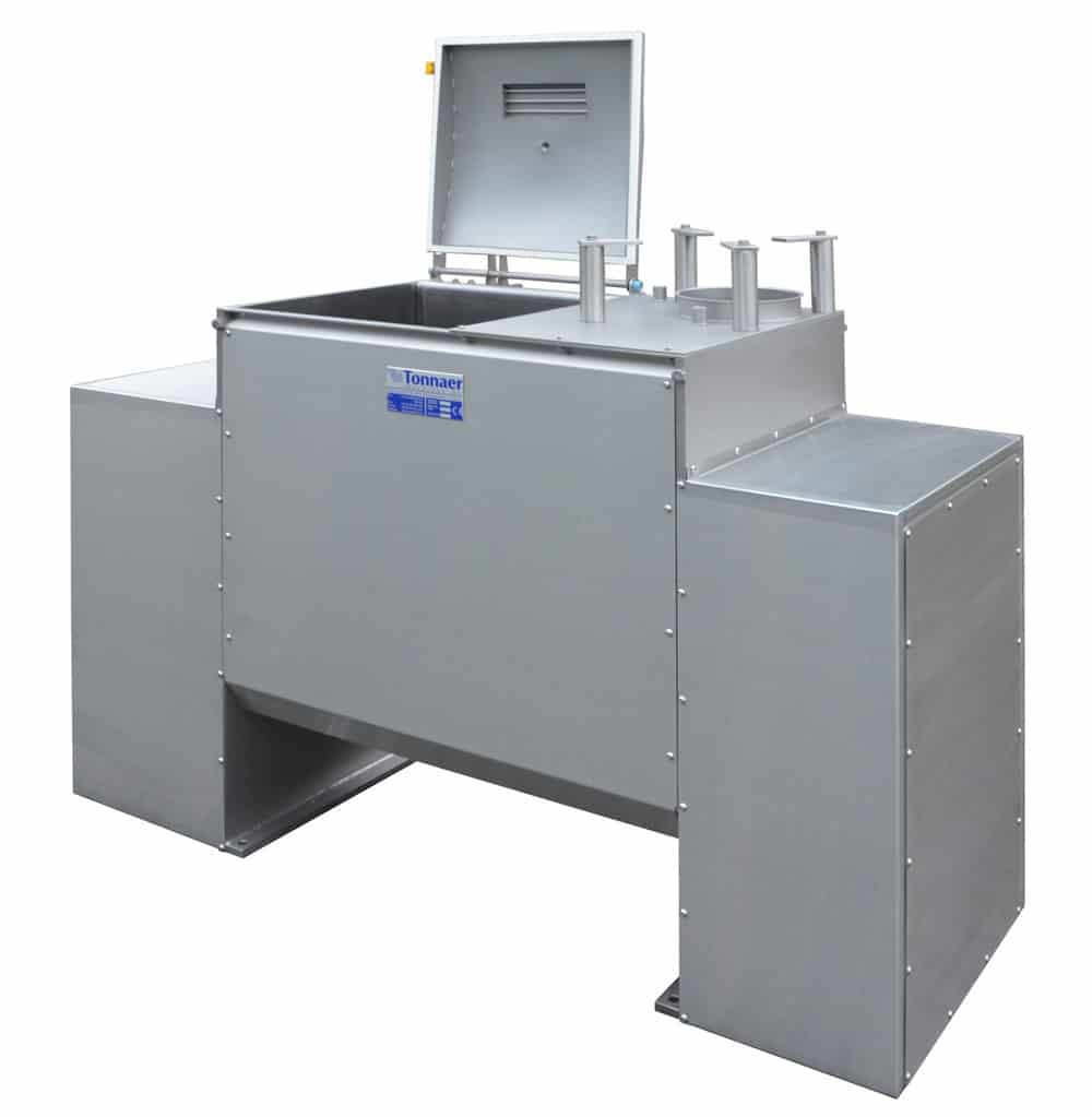 TZLM horizontal mixer with Z-shaped ribbon stirrer - Tonnaer Mixing Systems