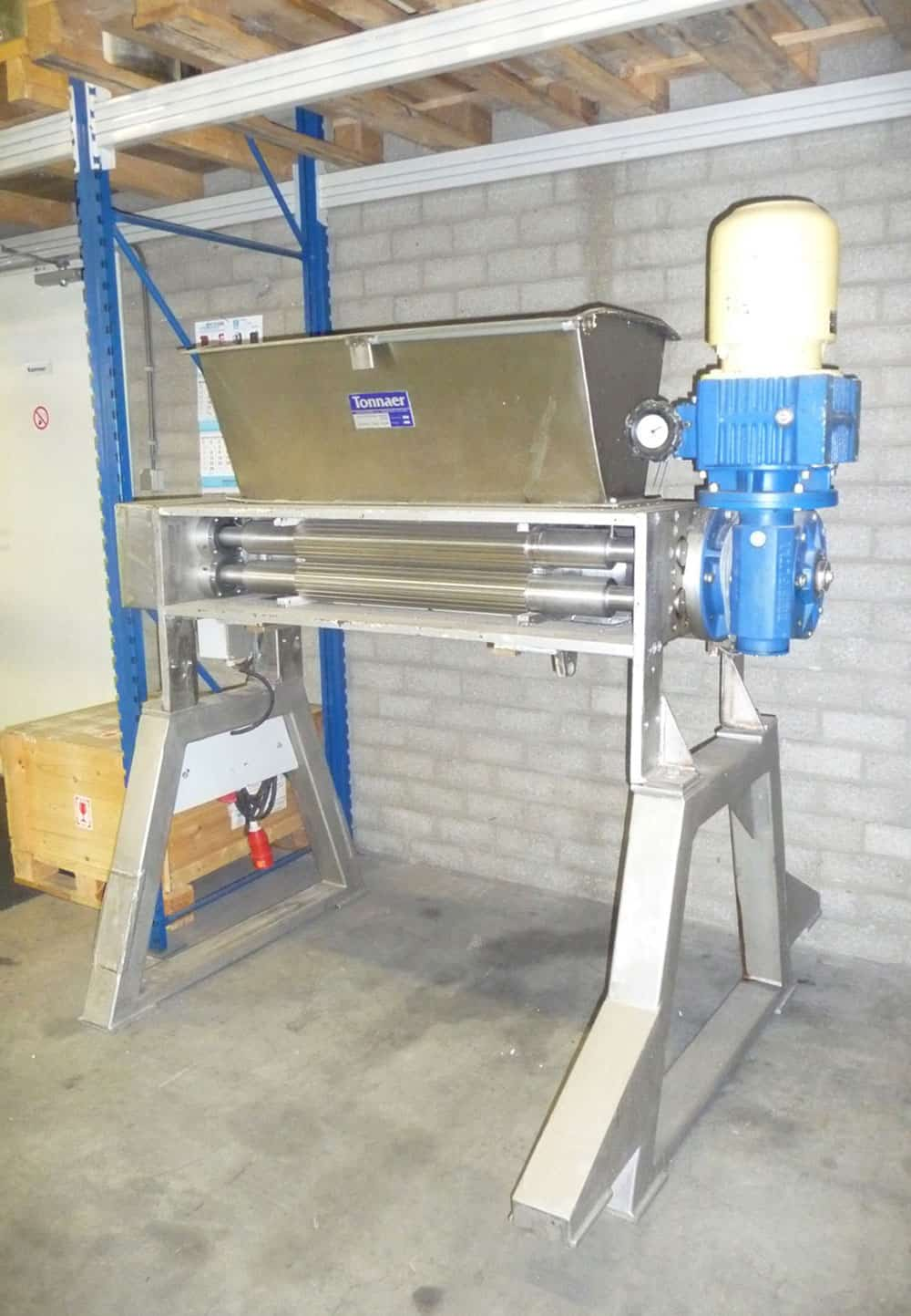 Revised-Used Three cylinder Dough extruder Tonnaer Mixing Systems