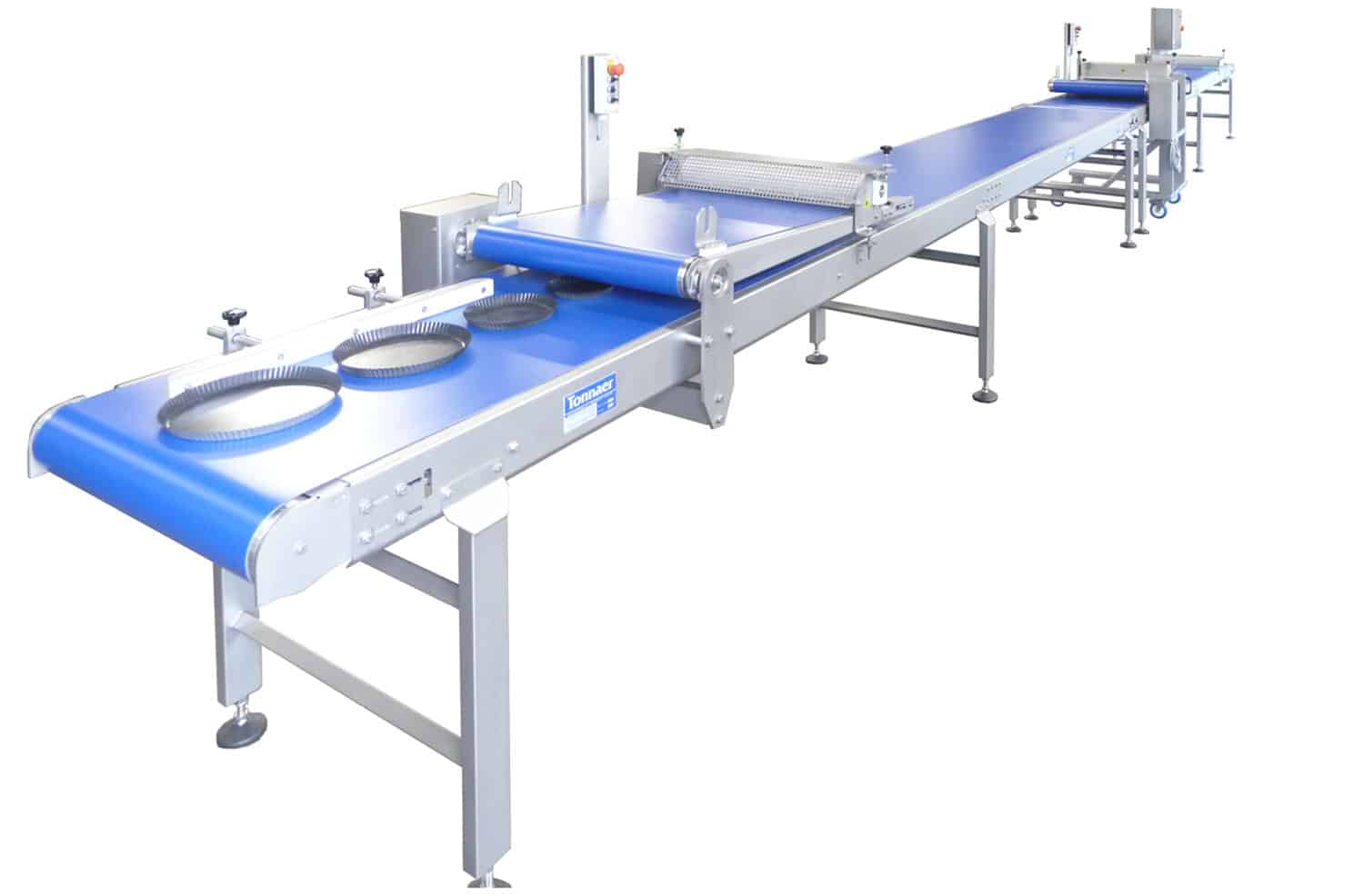 Semi-automatic finishing line 01 Tonnaer Mixing Systems