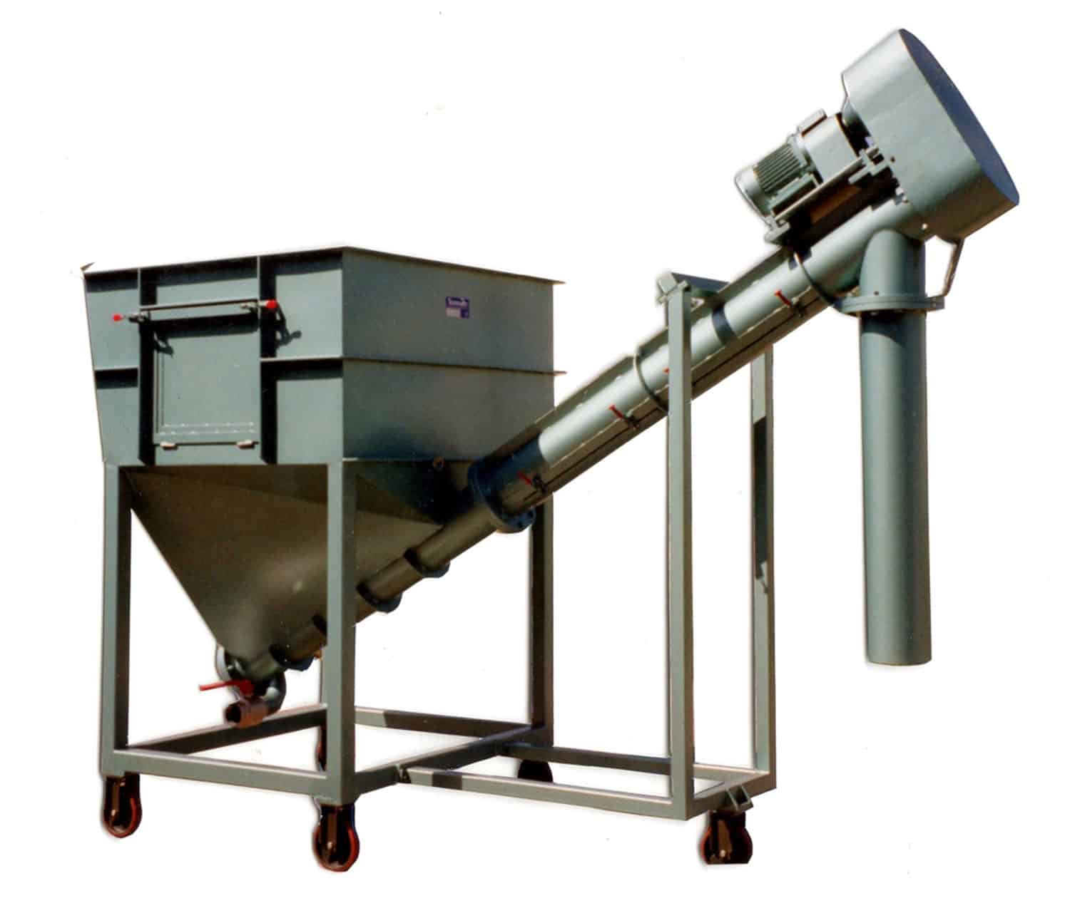 Supply hopper with outfeed screw - Tonnaer Mixing Systems